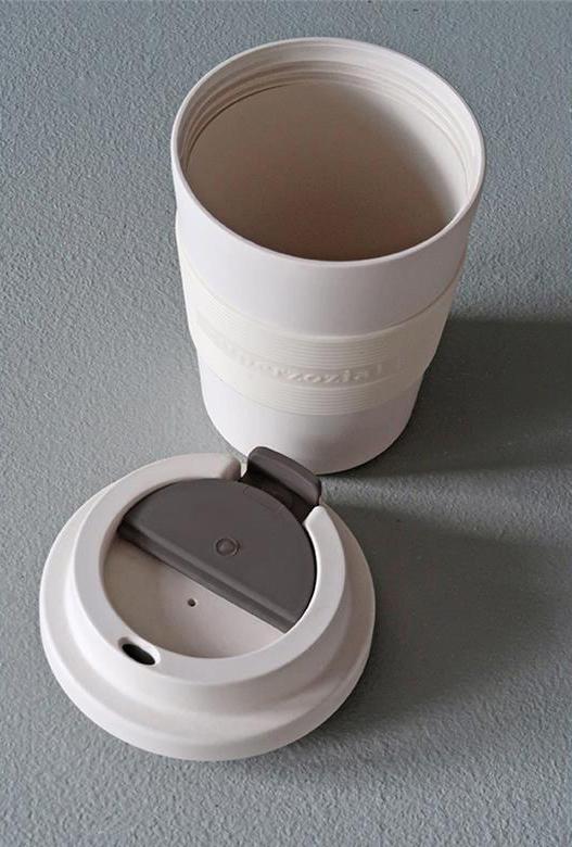 Time Out Mug Medium Coconut White deksel