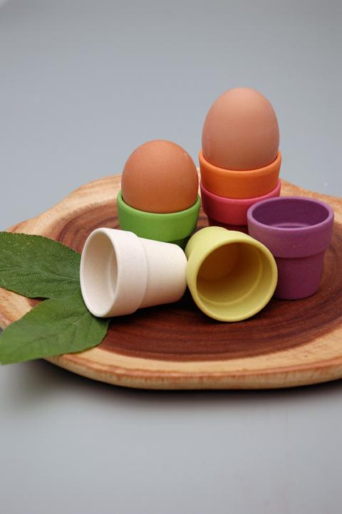 Zuperzozial Little Egg Heads - Eierdopjes - Rainbow sfeer