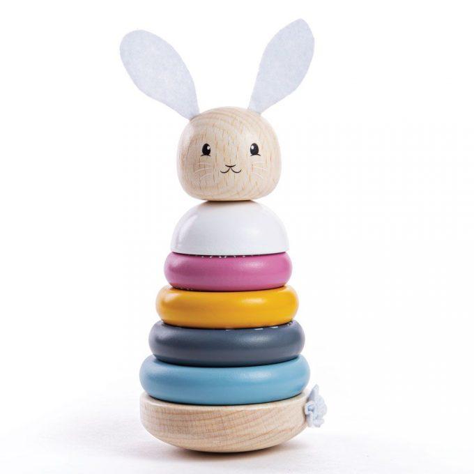 Bigjigs houten stapeltoren konijn