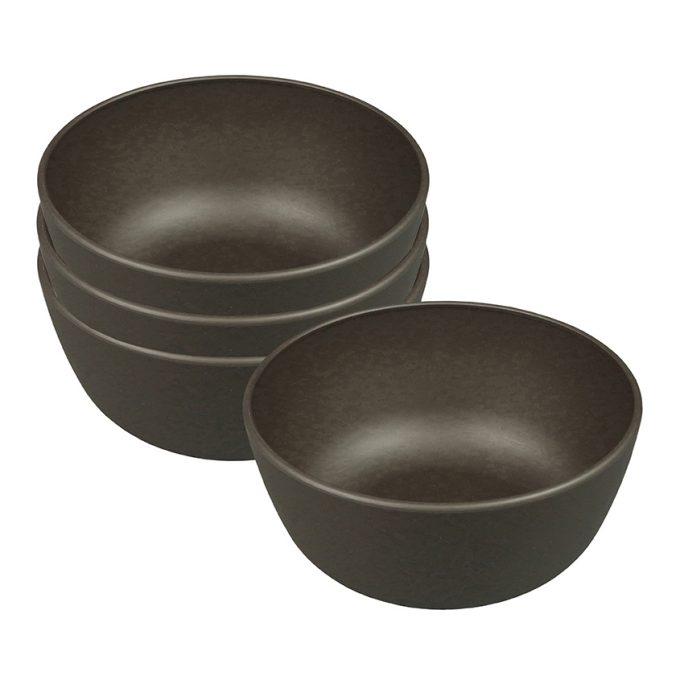 Zuperzozial Boost-Bowl 500ml set van 4 donkerbruin