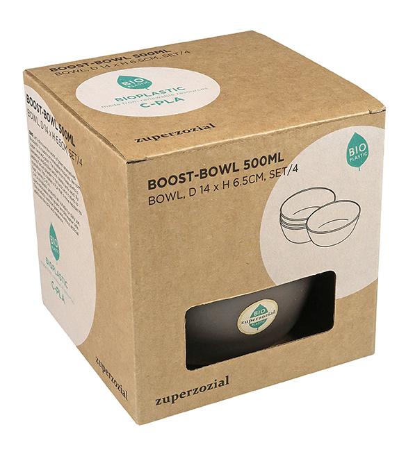 Zuperzozial Boost-Bowl 500ml set van 4 verpakking