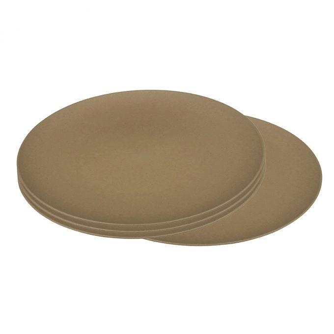 Zuperzozial Flavour-It groot bord set van 4 bruin