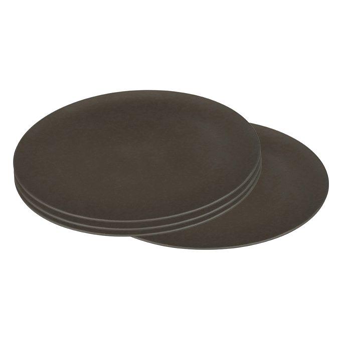 Zuperzozial Flavour-It groot bord set van 4 donkerbruin