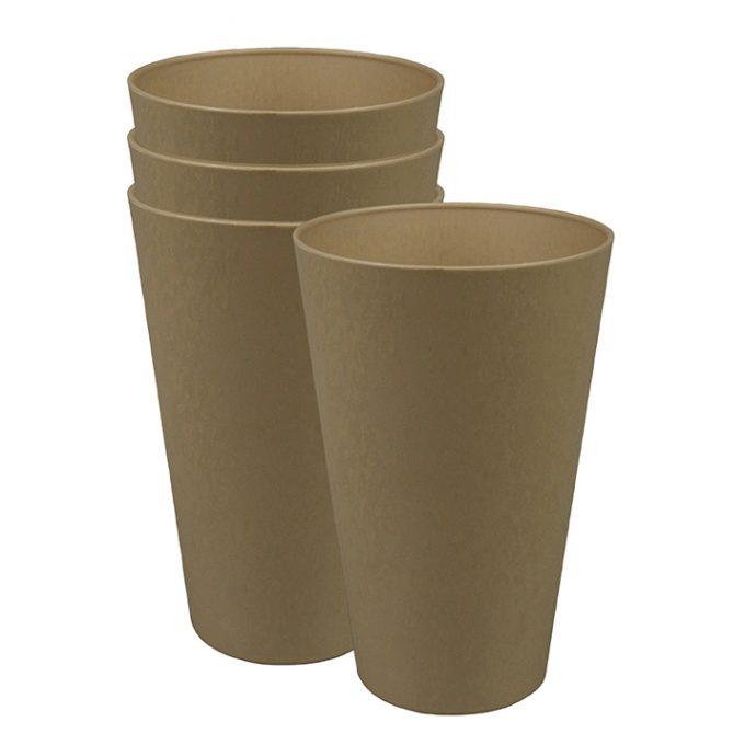 Zuperzozial Reload-Cup beker set van 4 bruin