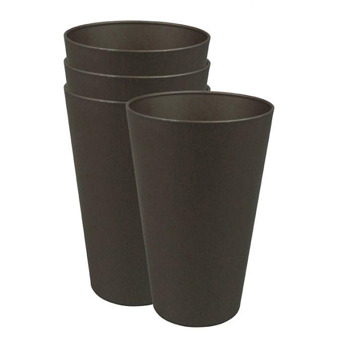 Zuperzozial Reload-Cup beker set van 4 donkerbruin