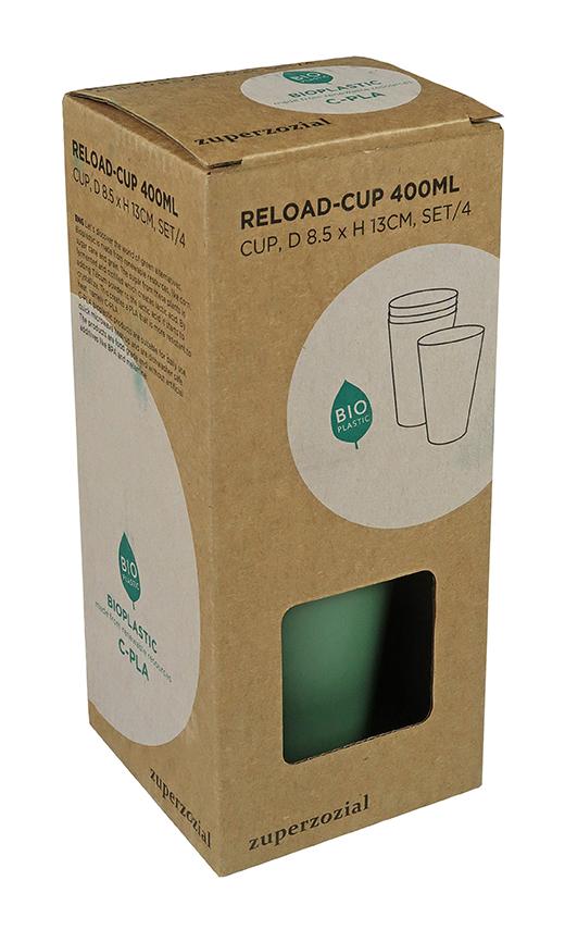 Zuperzozial Reload-Cup beker set van 4 verpakking