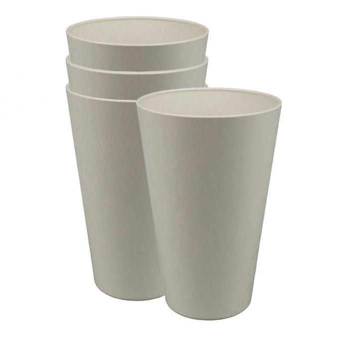 Zuperzozial Reload-Cup beker set van 4 wit