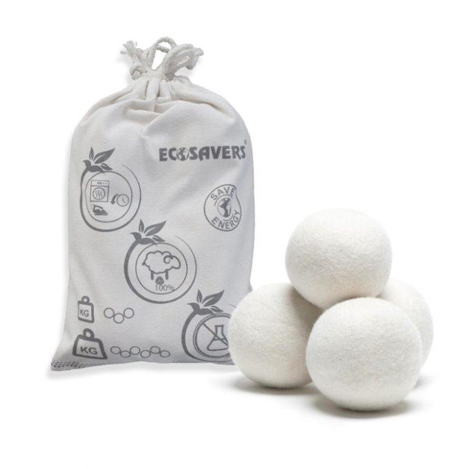 Ecosavers Dryer Balls Wol 6 stuks