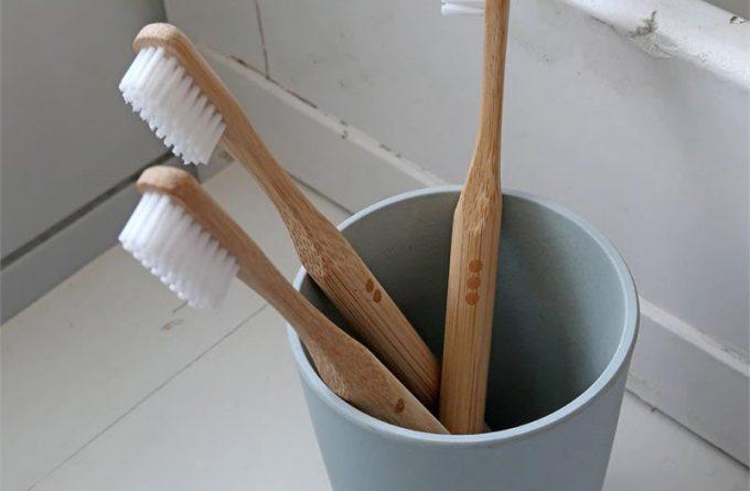 Zuperzozial Bamboe tandenborstel detail
